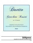 Duetto for Alto and Baritone Saxophones